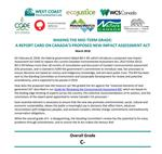 Our assessment of Impact Assessment Act gives it a C-
